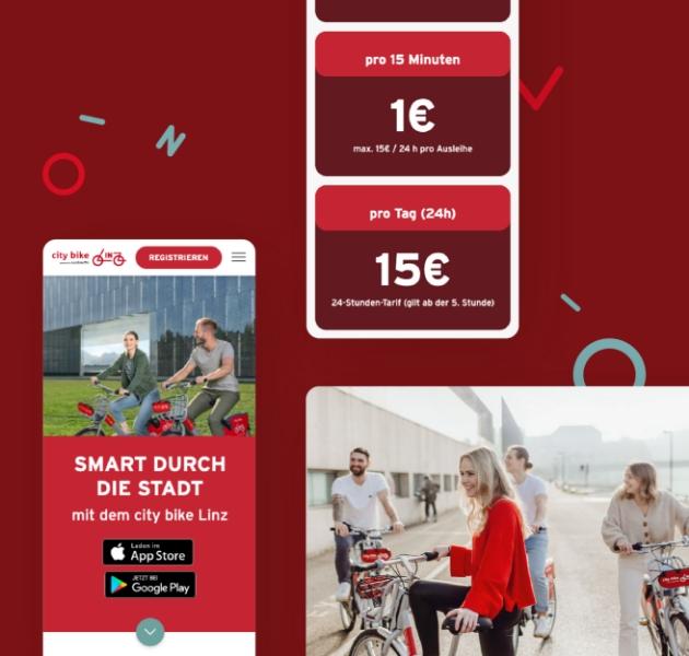 city bike Linz Webdesign